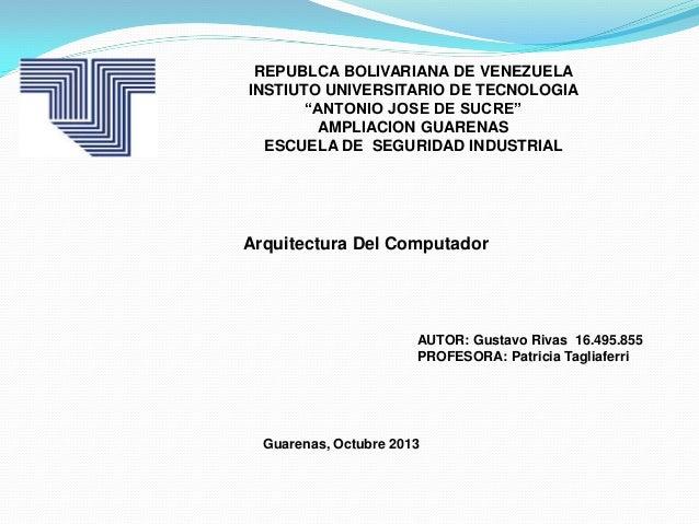 Mapa conceptual de la arquitectura de un computador for Mapa facultad de arquitectura