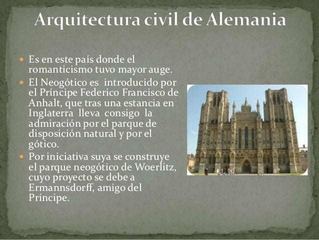 Arquitectura del romanticismo Romanticismo arquitectura
