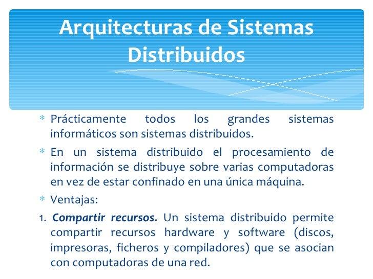 Arquitectura de sistemas distribuidos Slide 3