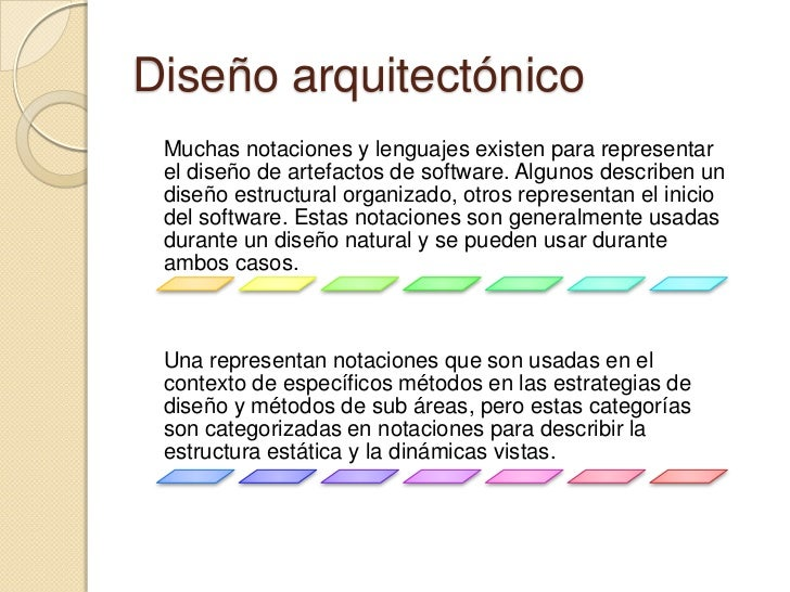 Arquitectura de software for Software de diseno arquitectonico