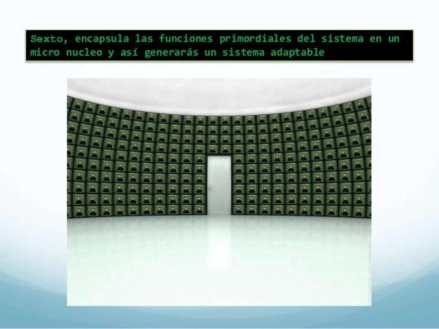 Patrón de Micro núcleo  (Microkernel)  El patrón microkernel  permite construir las capas  externas del sistema a partir  ...