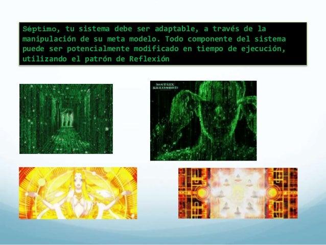 Patrón de Reflexión  (Reflection)  El patrón de reflexión otorga  la habilidad a un programa  para inspeccionar su  estruc...