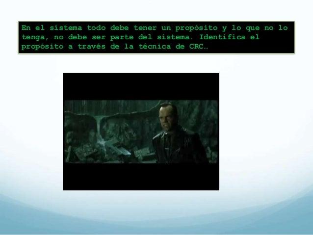 Clase-Responsabilidad-Colaboración  Se utiliza una tarjeta CRC para  plasmar en una lluvia de ideas  CRC es una técnica pa...