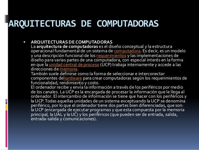 Arquitectura de un computador Slide 2