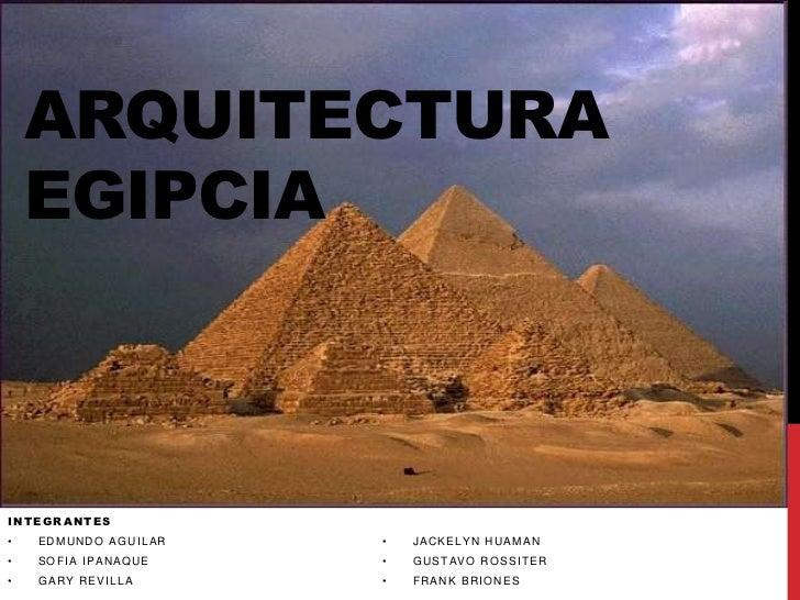 Arquitectura egipcia for Conceptualizacion de la arquitectura