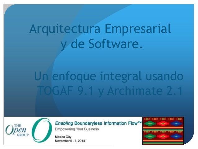 Arquitectura Empresarial Y De Software Version Final