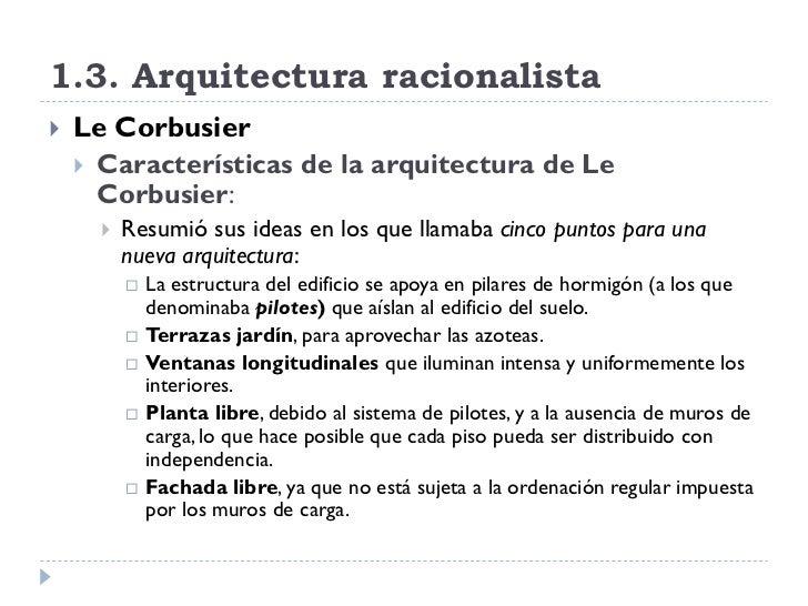 Arquitectura en la primera mitad del siglo xx for Caracteristicas de la arquitectura