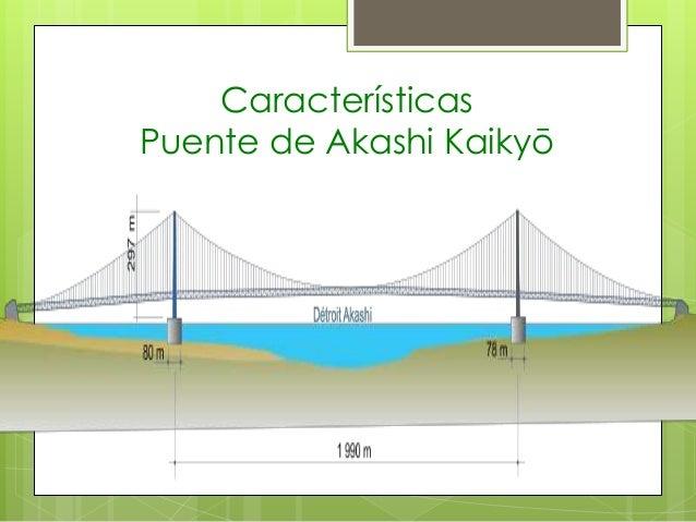 Características Puente de Akashi Kaikyō