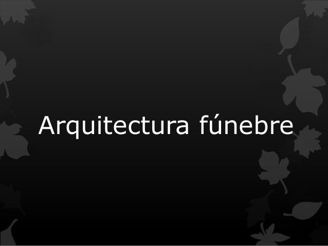 Arquitectura fúnebre