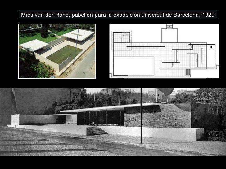 Mies van der Rohe, pabellón para la exposición universal de Barcelona, 1929