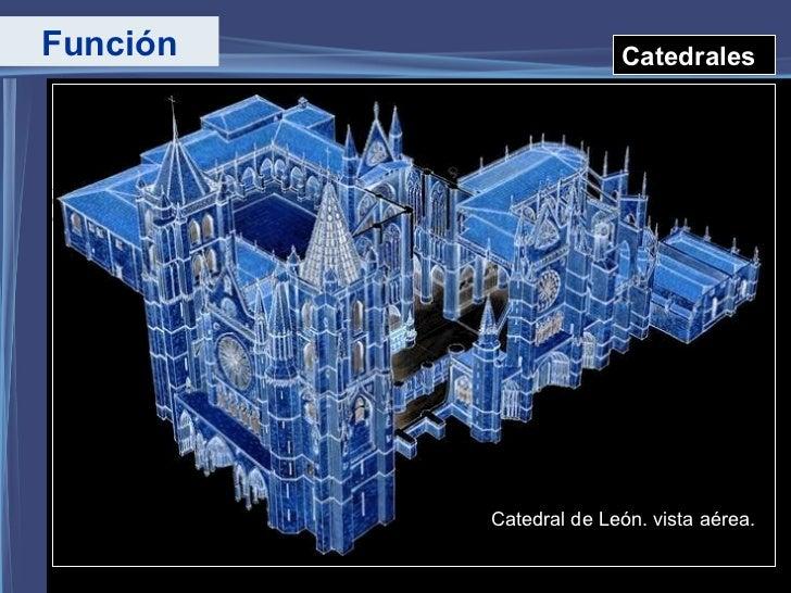 Función Catedrales Catedral de León. vista aérea.