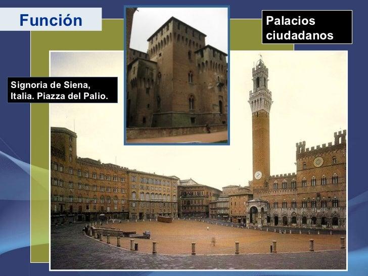 Palacios ciudadanos Función Signoria de Siena, Italia. Piazza del Palio.