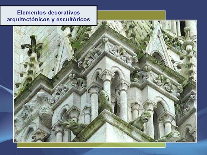 Elementos decorativos arquitectónicos y escultóricos