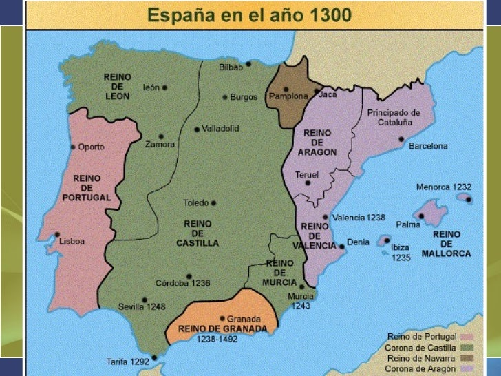 LA PENÍNSULA IBÉRICA EN EL 1300