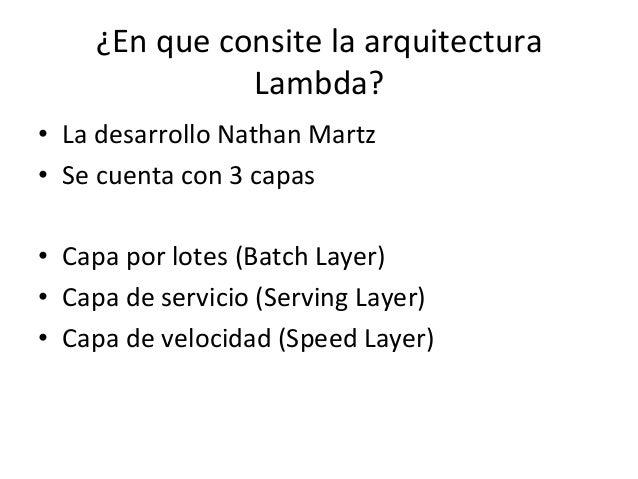 Arquitectura lambda for Arquitectura 3 capas