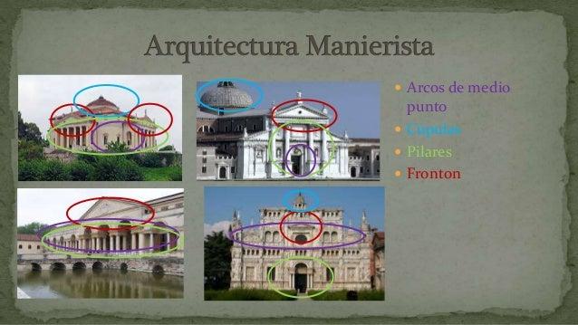 Arquitectura Manierista Identificaci N De Elementos