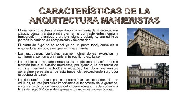 Arquitectura Manierista Historia De La Arquitectura Ii