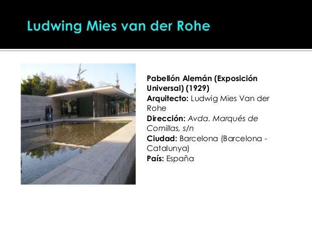 Arquitectura moderna exponentes for Arquitectura web pdf