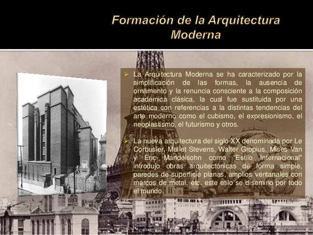 Arquitectura moderna siglo xix for Arquitectura del siglo 20