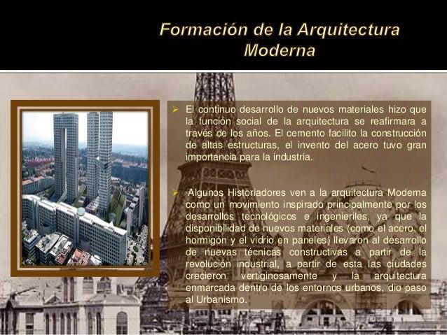 Arquitectura moderna siglo xix Arquitectura de desarrollo