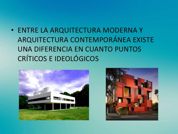 arquitectura moderna y contempor nea