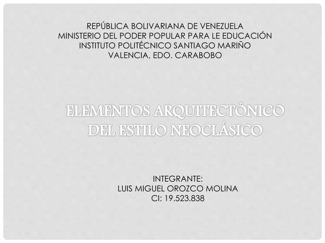 REPÚBLICA BOLIVARIANA DE VENEZUELA MINISTERIO DEL PODER POPULAR PARA LE EDUCACIÓN INSTITUTO POLITÉCNICO SANTIAGO MARIÑO VA...