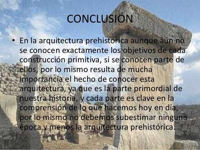 arquitectura prehist rica