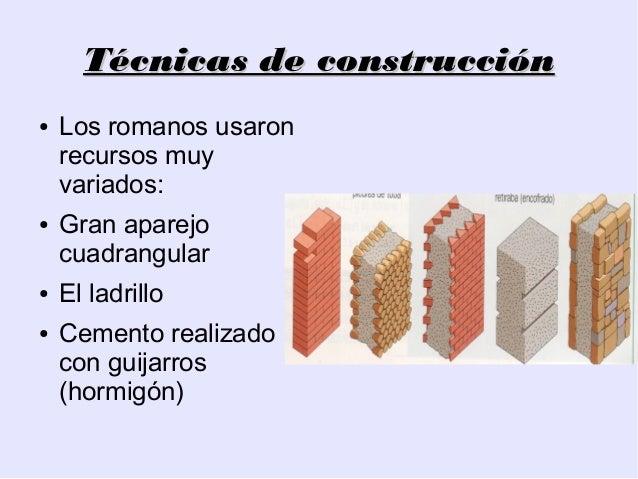 Arquitectura romana sistemas constructivos y aparejos for 5 tecnicas de la arquitectura