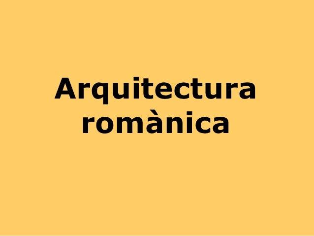 Arquitectura romànica