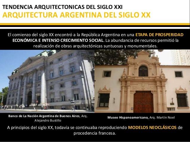 Arquitectura siglo XXI - Argentina
