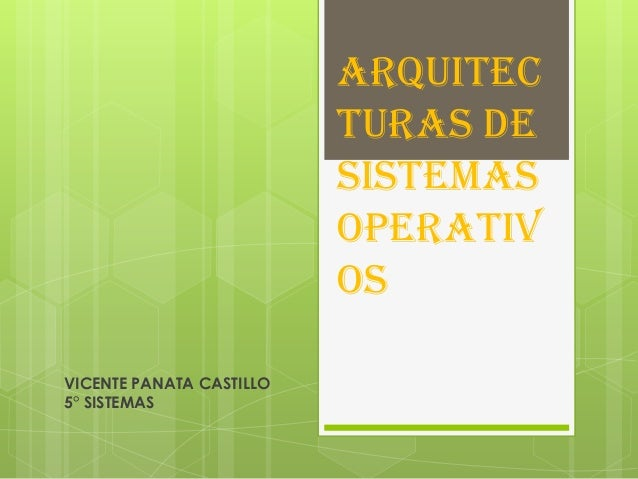 Arquitec                          turas de                          Sistemas                          Operativ            ...