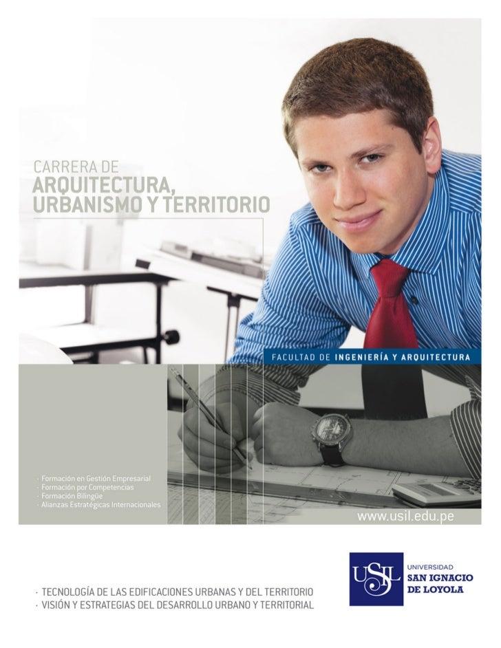 Carrera de arquitectura urbanismo y territorio for Carrera de arquitectura