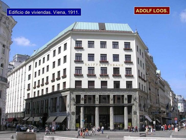 Edificio de viviendas. Viena, 1911. ADOLF LOOS.