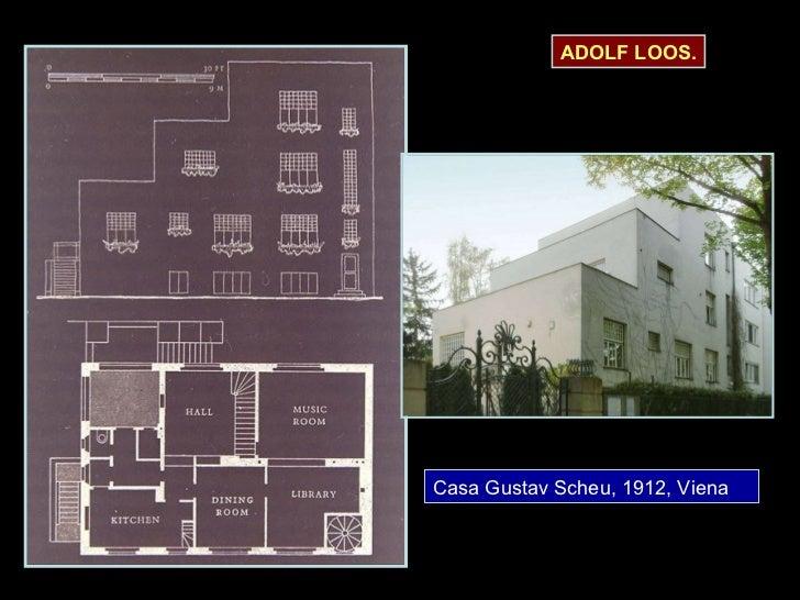 Casa Gustav Scheu, 1912, Viena ADOLF LOOS.
