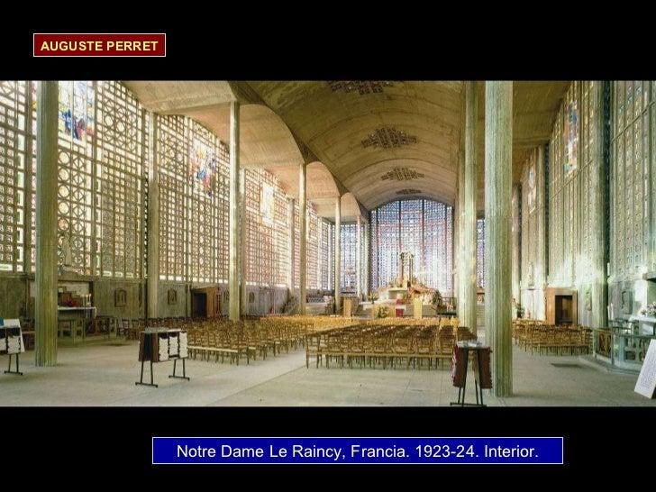 Notre Dame Le Raincy, Francia.  1923-24. Interior. AUGUSTE PERRET