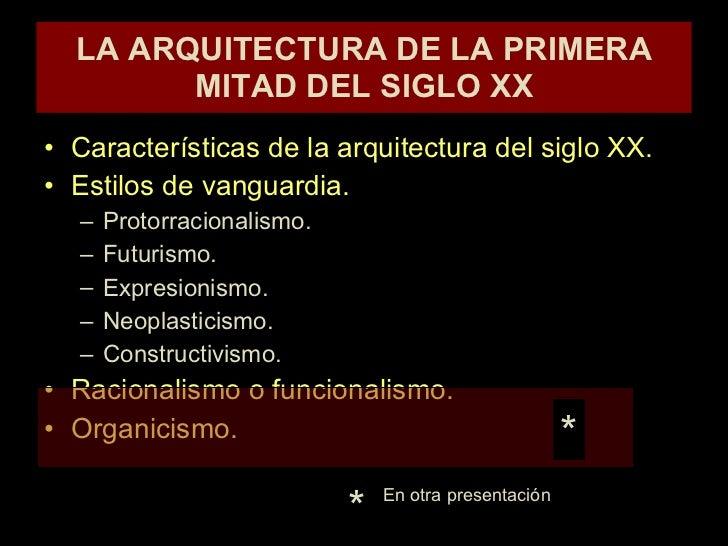 Arquitectura de las vanguardias del siglo xx for Tipos de vanguardias