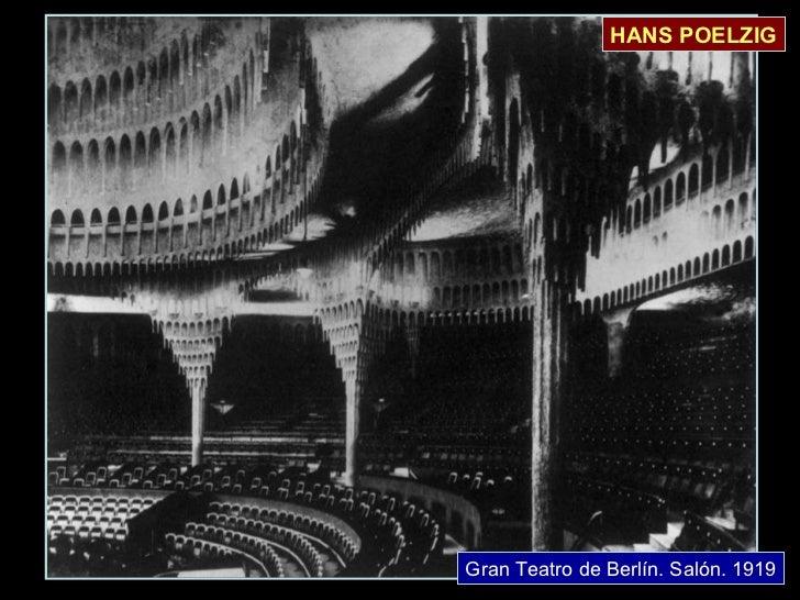 Gran Teatro de Berlín. Salón. 1919 HANS POELZIG