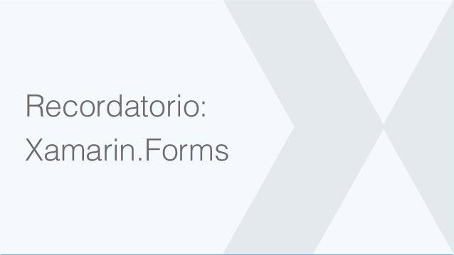 Recordatorio: Xamarin.Forms