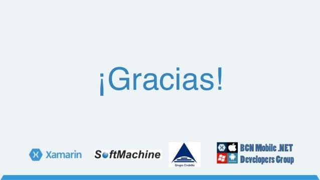 ¡Gracias! BCNMobile.NET DevelopersGroup