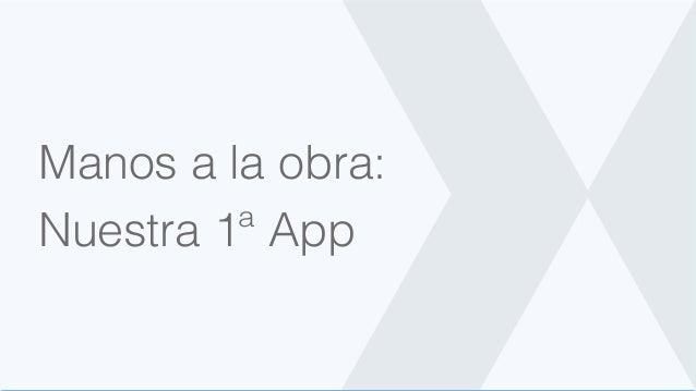 Manos a la obra: Nuestra 1ª App