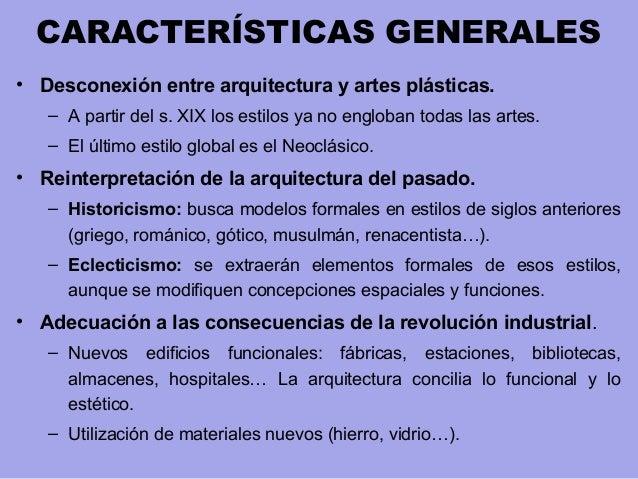 Arquitectura del siglo xix for Caracteristicas de la arquitectura