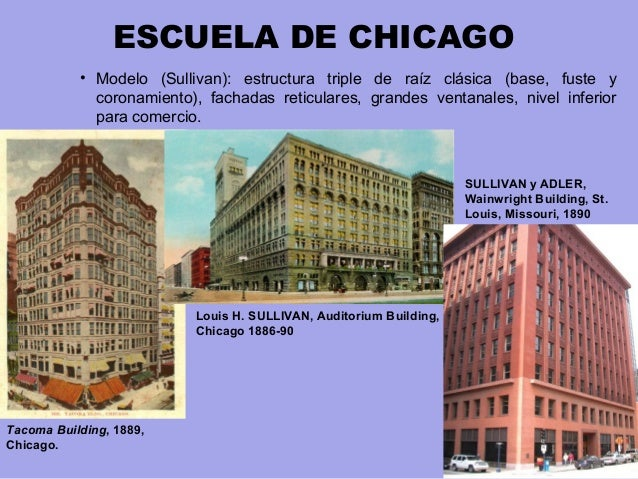 Resultado de imagen de escuela de chicago sullivan