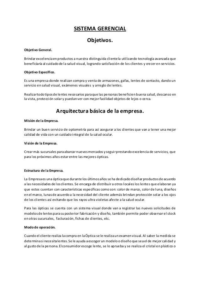 Arquitectura y objetivos de la empresa for Empresas de arquitectura