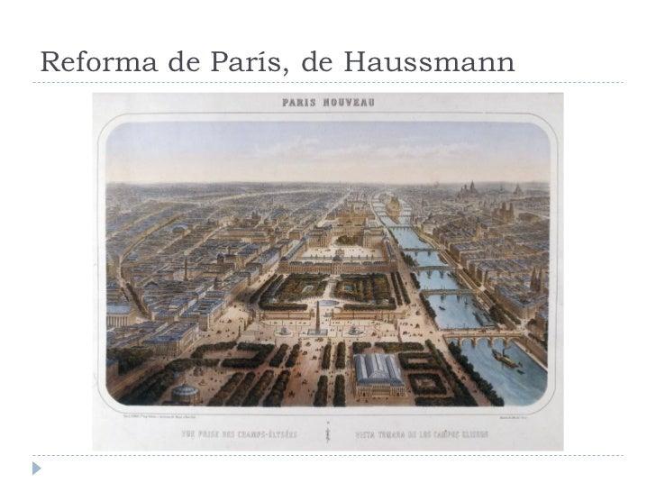 Reforma de París, de Haussmann