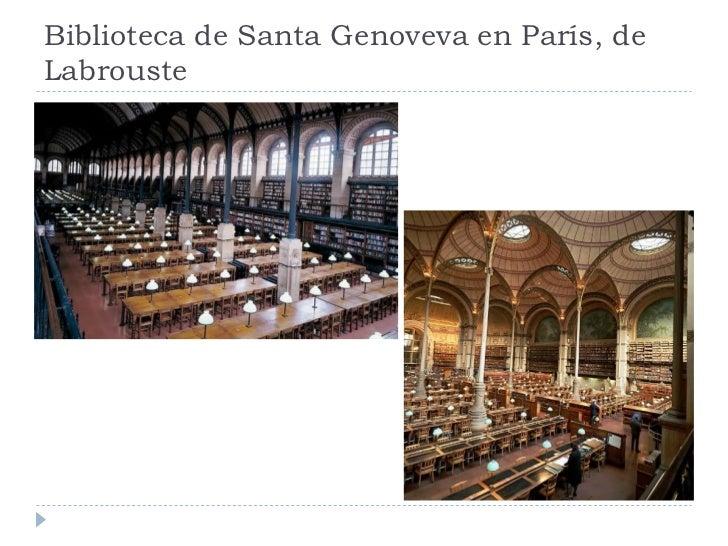 Biblioteca de Santa Genoveva en París, de Labrouste