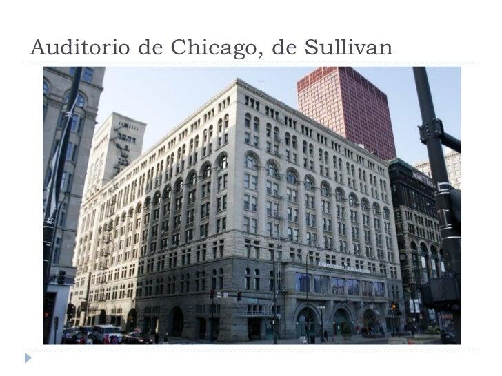 Auditorio de Chicago, de Sullivan