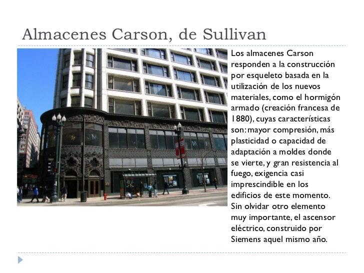Almacenes Carson, de Sullivan                         Los almacenes Carson                         responden a la construc...