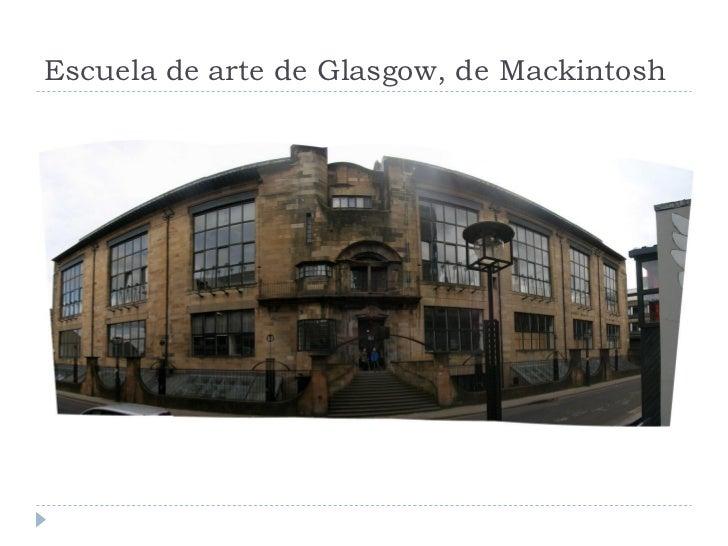 Escuela de arte de Glasgow, de Mackintosh