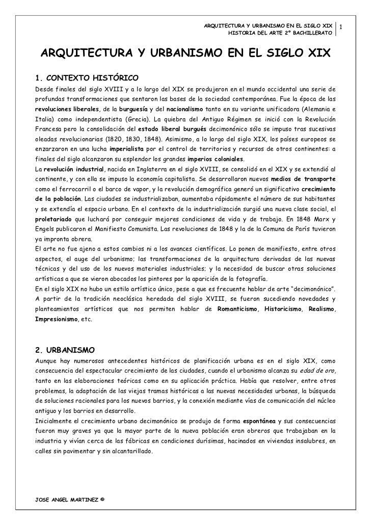 ARQUITECTURA Y URBANISMO EN EL SIGLO XIX        1                                                                   HISTOR...