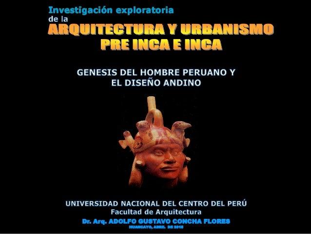 Dr. Arq. ADOLFO GUSTAVO CONCHA FLORES HUANCAYO, ABRIL DE 2015
